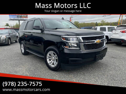 2016 Chevrolet Tahoe for sale at Mass Motors LLC in Worcester MA