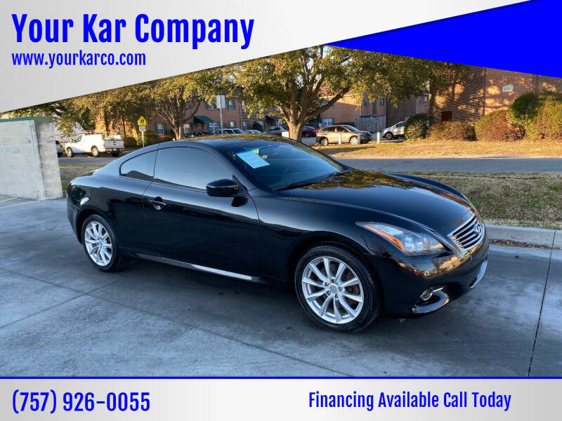 2012 Infiniti G37 Coupe for sale at Your Kar Company in Norfolk VA