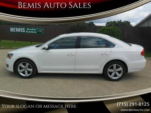 2013 Volkswagen Passat for sale at Bemis Auto Sales in Crivitz WI