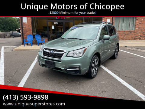 2017 Subaru Forester for sale at Unique Motors of Chicopee in Chicopee MA