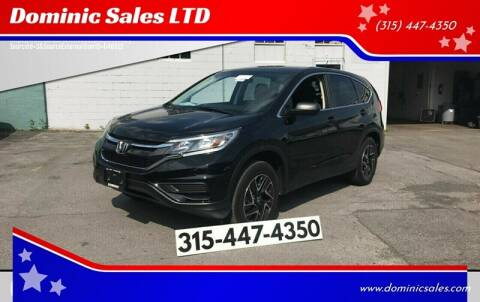 2016 Honda CR-V for sale at Dominic Sales LTD in Syracuse NY