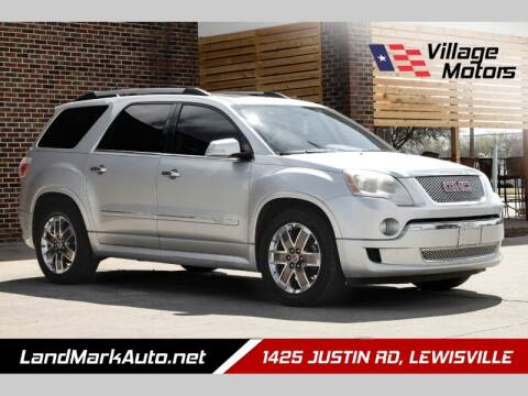 2012 GMC Acadia for sale at Village Motors in Lewisville TX