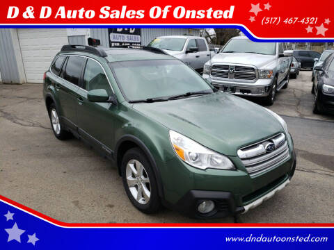 2013 Subaru Outback for sale at D & D Auto Sales Of Onsted in Onsted   Brooklyn MI