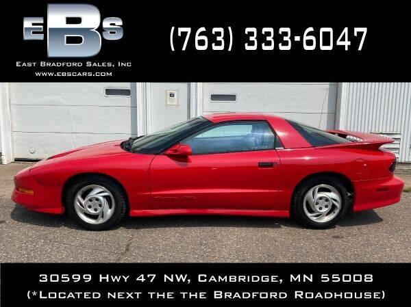 1993 Pontiac Firebird for sale at East Bradford Sales, Inc in Cambridge MN