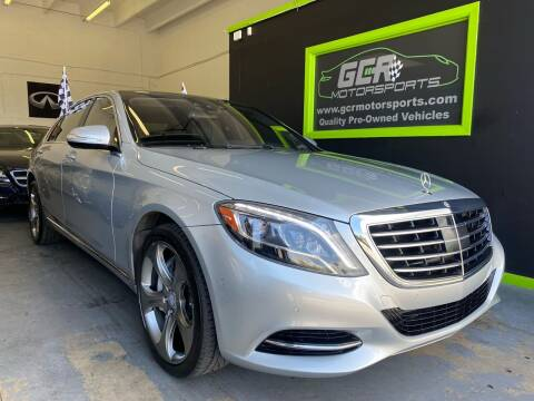 2015 Mercedes-Benz S-Class for sale at GCR MOTORSPORTS in Hollywood FL