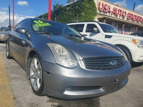 2006 Infiniti G35 for sale at USA Auto Brokers in Houston TX