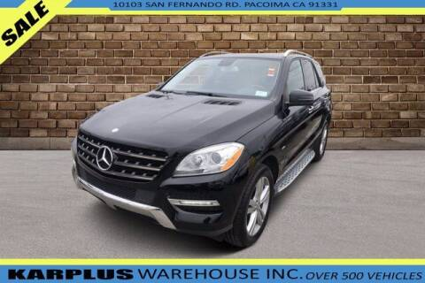 2012 Mercedes-Benz M-Class for sale at Karplus Warehouse in Pacoima CA