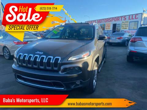 2014 Jeep Cherokee for sale at Baba's Motorsports, LLC in Phoenix AZ