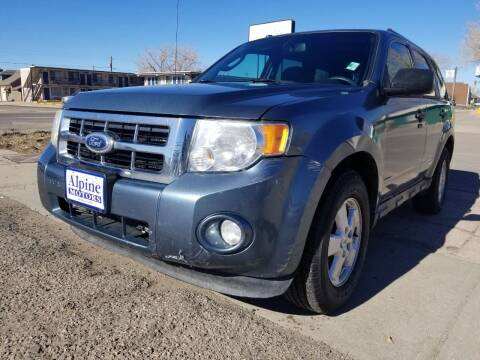 2010 Ford Escape for sale at Alpine Motors LLC in Laramie WY