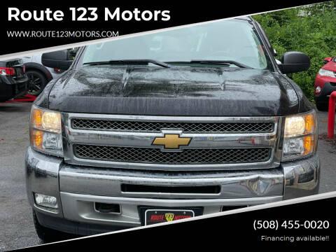 2012 Chevrolet Silverado 1500 for sale at Route 123 Motors in Norton MA