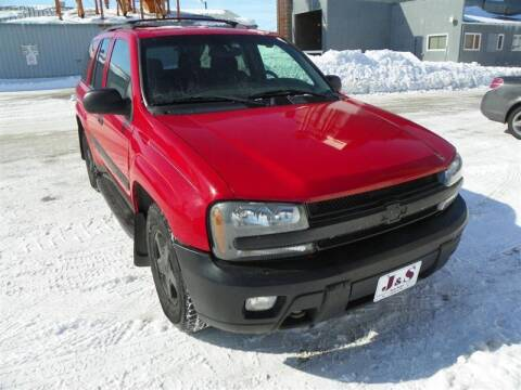 2002 Chevrolet TrailBlazer for sale at J & S Auto Sales in Thompson ND