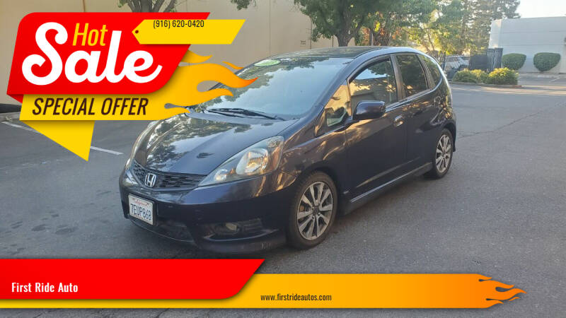 2013 Honda Fit for sale at First Ride Auto in Sacramento CA