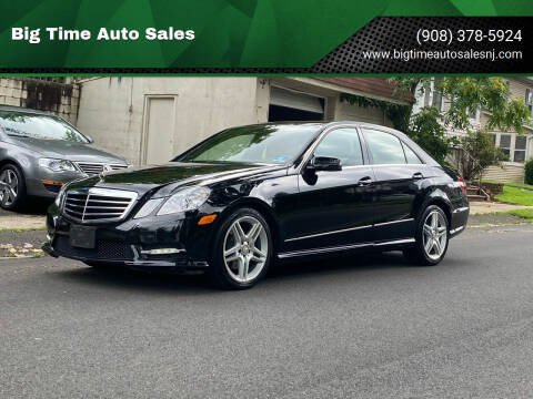 2013 Mercedes-Benz E-Class for sale at Big Time Auto Sales in Vauxhall NJ