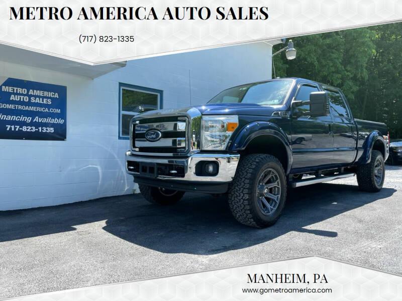 2011 Ford F-250 Super Duty for sale at METRO AMERICA AUTO SALES of Manheim in Manheim PA