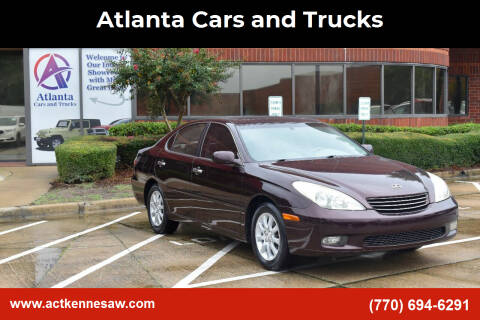 2004 Lexus ES 330 for sale at Atlanta Cars and Trucks in Kennesaw GA