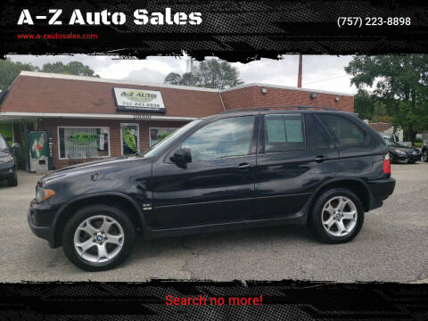 2005 BMW X5 for sale at A-Z Auto Sales in Newport News VA