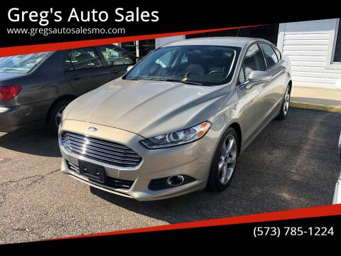 2015 Ford Fusion for sale at Greg's Auto Sales in Poplar Bluff MO