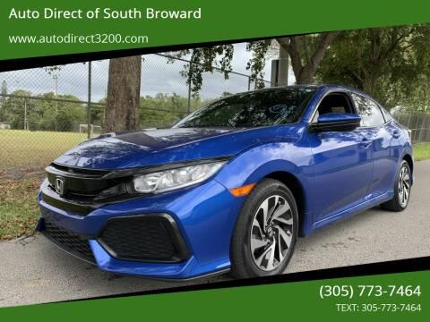 2017 Honda Civic for sale at Auto Direct of South Broward in Miramar FL