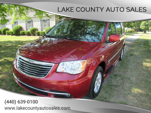 2012 Chrysler Town and Country for sale at Lake County Auto Sales in Painesville OH