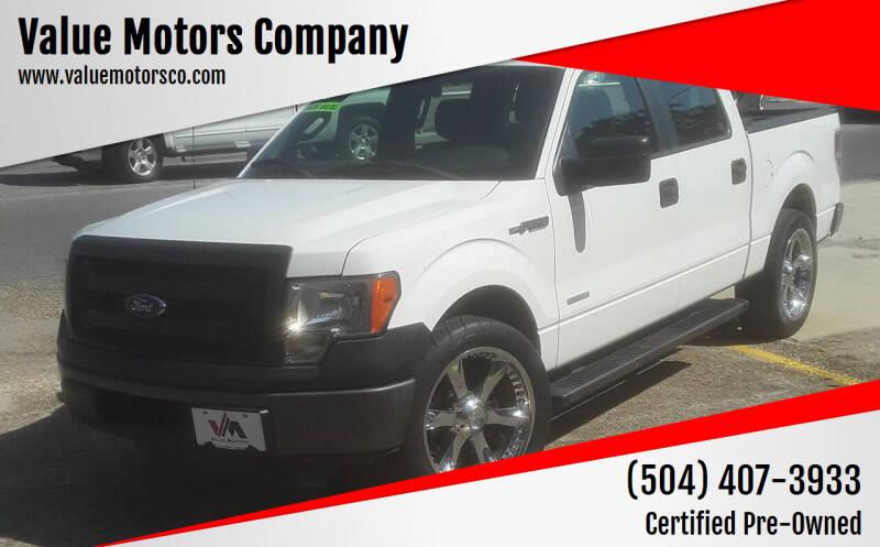 2013 Ford F-150 for sale at Value Motors Company in Marrero LA