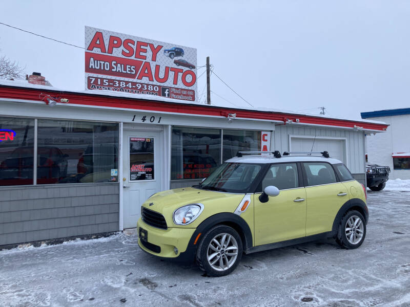 2012 MINI Cooper Countryman for sale at Apsey Auto in Marshfield WI