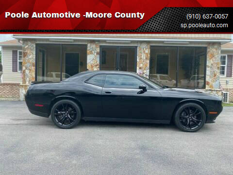 2015 Dodge Challenger for sale at Poole Automotive in Laurinburg NC