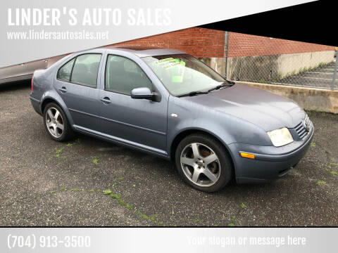 2003 Volkswagen Jetta for sale at LINDER'S AUTO SALES in Gastonia NC