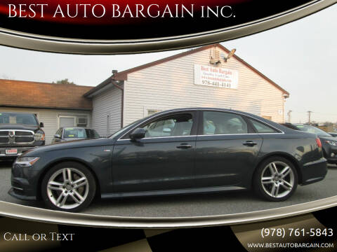 2016 Audi A6 for sale at BEST AUTO BARGAIN inc. in Lowell MA