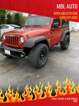 2009 Jeep Wrangler for sale at MBL Auto in Fredericksburg VA
