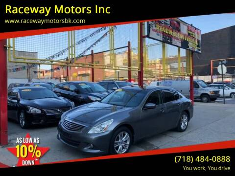 2011 Infiniti G37 Sedan for sale at Raceway Motors Inc in Brooklyn NY