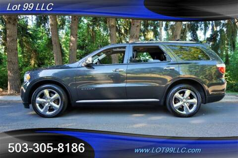 2011 Dodge Durango for sale at LOT 99 LLC in Milwaukie OR