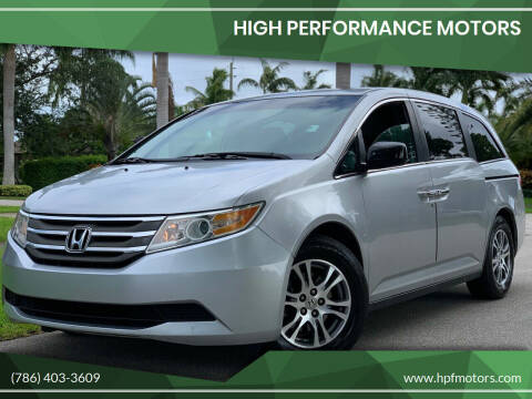 2011 Honda Odyssey for sale at HIGH PERFORMANCE MOTORS in Hollywood FL