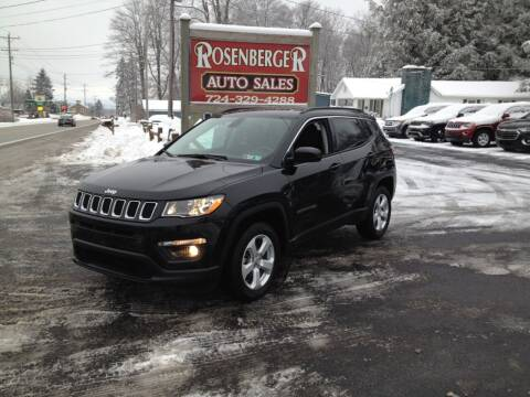 2019 Jeep Compass for sale at Rosenberger Auto Sales LLC in Markleysburg PA