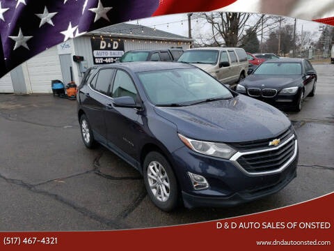 2019 Chevrolet Equinox for sale at D & D Auto Sales Of Onsted in Onsted MI
