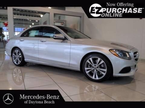 2018 Mercedes-Benz C-Class for sale at Mercedes-Benz of Daytona Beach in Daytona Beach FL