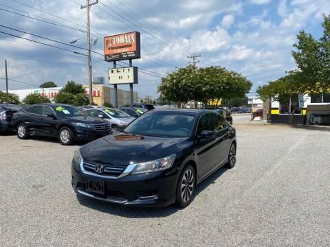 2015 Honda Accord Hybrid for sale at Autohaus of Greensboro in Greensboro NC