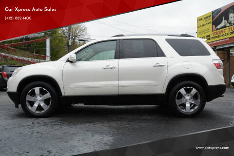 2012 GMC Acadia for sale at Car Xpress Auto Sales in Pittsburgh PA
