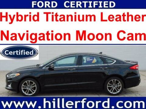 2020 Ford Fusion Hybrid for sale at HILLER FORD INC in Franklin WI