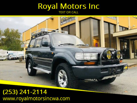 1990 Toyota Land Cruiser for sale at Royal Motors Inc in Kent WA