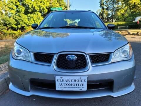 2007 Subaru Impreza for sale at CLEAR CHOICE AUTOMOTIVE in Milwaukie OR