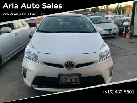 2013 Toyota Prius for sale at Aria Auto Sales in El Cajon CA