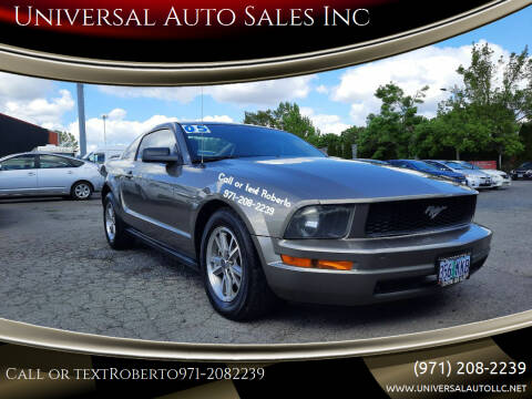 2005 Ford Mustang for sale at Universal Auto Sales Inc in Salem OR