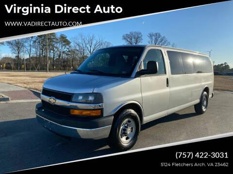 2012 Chevrolet Express Passenger for sale at Virginia Direct Auto in Virginia Beach VA