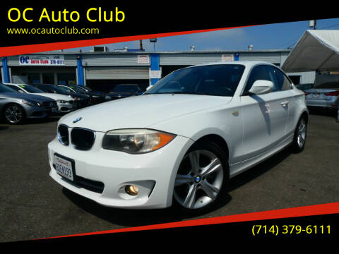 2012 BMW 1 Series for sale at OC Auto Club in Midway City CA