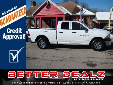 2012 RAM Ram Pickup 1500 for sale at Better Dealz Auto Sales & Finance in York PA