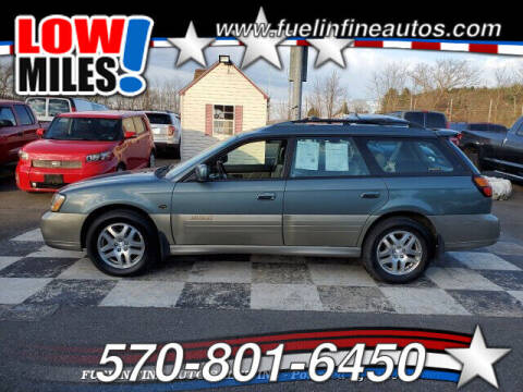 2002 Subaru Outback for sale at FUELIN FINE AUTO SALES INC in Saylorsburg PA