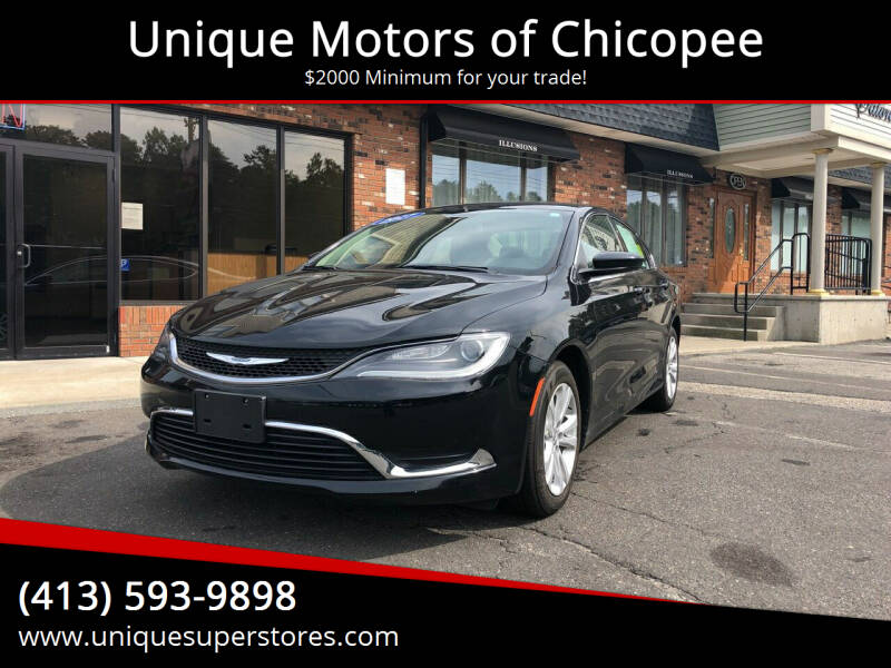 2017 Chrysler 200 for sale at Unique Motors of Chicopee in Chicopee MA
