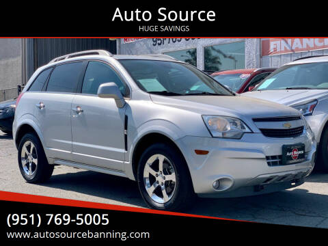 2012 Chevrolet Captiva Sport for sale at Auto Source in Banning CA