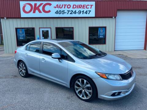 2012 Honda Civic for sale at OKC Auto Direct in Oklahoma City OK
