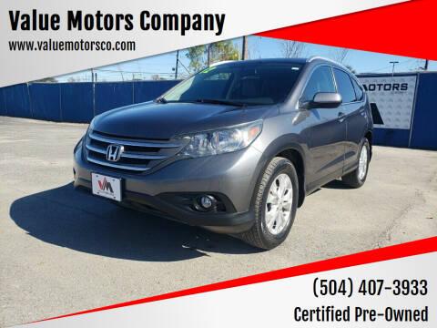 2012 Honda CR-V for sale at Value Motors Company in Marrero LA